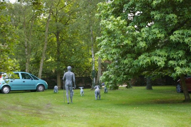 Statues in the grounds of The Old Vicarage, Grantchester