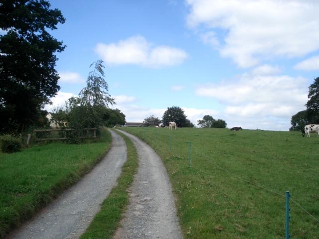 Farm track to Pool House Farm