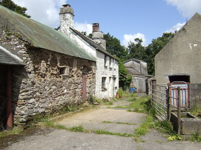 Old farm buildings at Pelyne