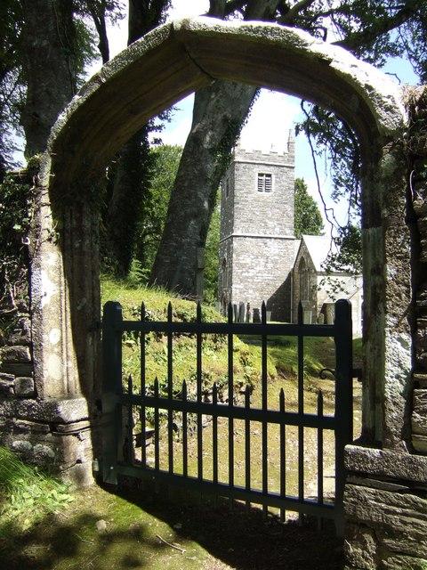 Unusual gate to Braddock church