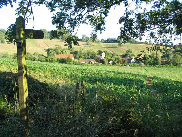 Footpath to Lamyatt church.
