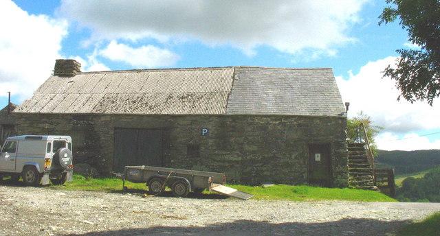 Old farm building at Bedd y Coedwr Farm