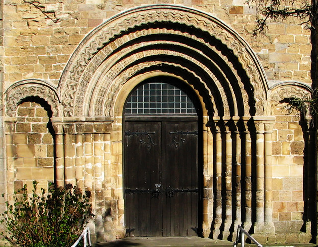 The west door of Chepstow St Mary