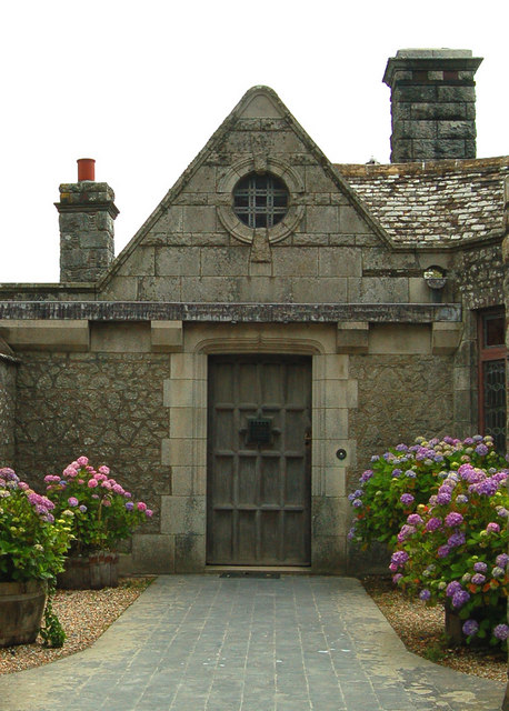 Courtyard door at Porth en Alls
