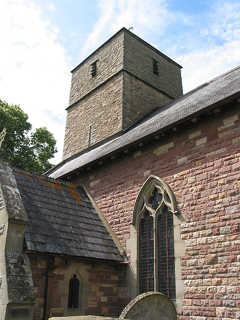 West  tower of the church of  St John the Baptist
