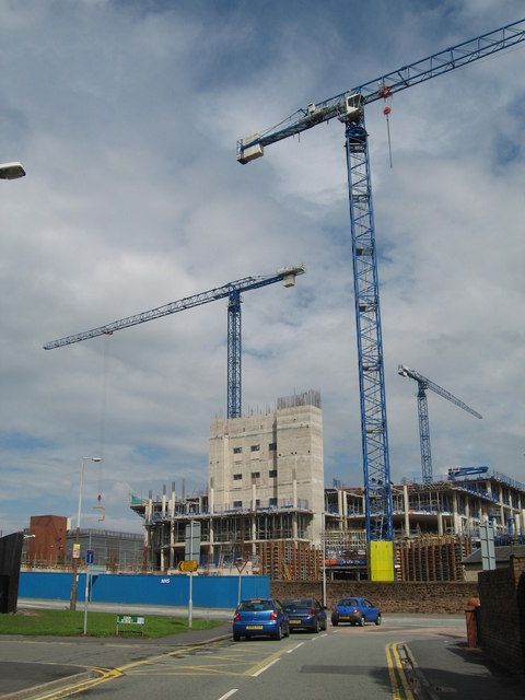 Whiston Hospital - Construction July 2007