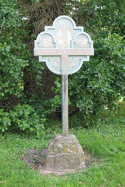 Village sign, Aston Ingham