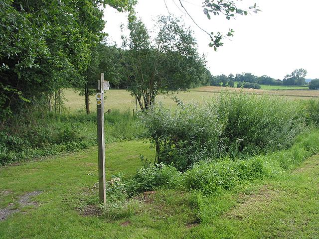 Footpath near Reslaw Wood