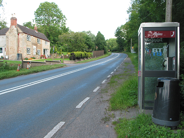 Telephone box on the road to Newent