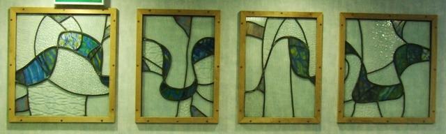 Glass art at Port Glasgow Baths