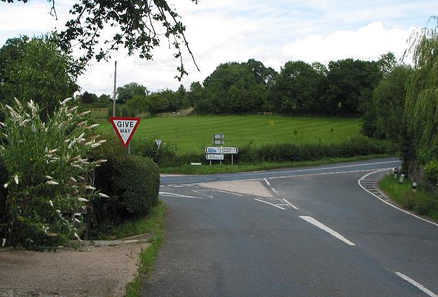 Road Junction at Kilcot
