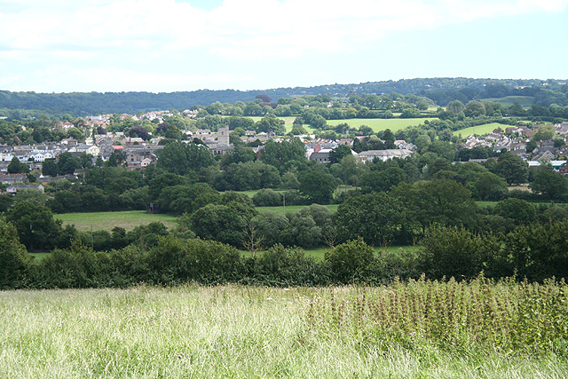 Axminster: the town from the north west