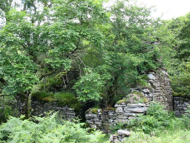 Ruins of Bryn-y-gath-isaf cottage