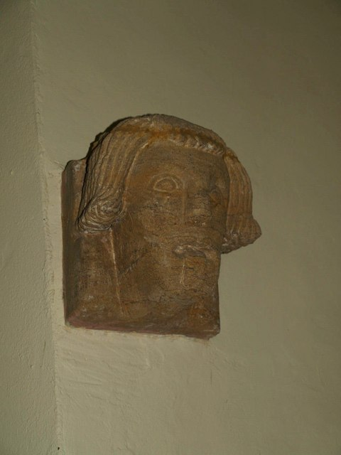 Carved head, Seavington St Michael