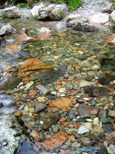 Multi Coloured Rocks and Pebbles in Allt Coire Gabhail