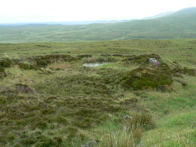 Small moorland pond