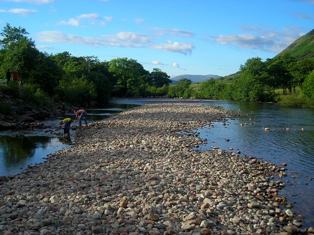 Pebble Bank in River Nevis
