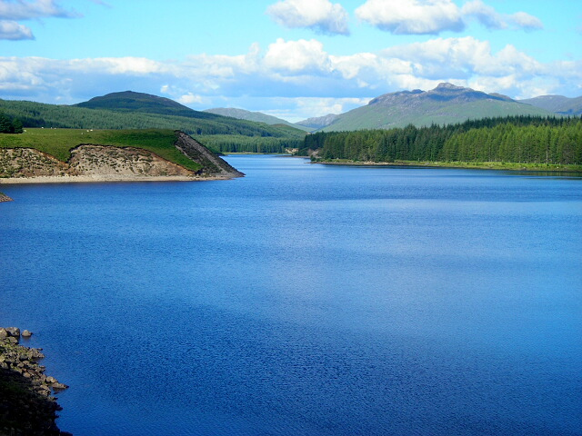 View Along Laggan Reservoir