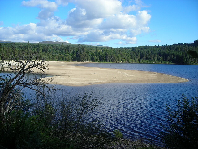 Sandy Beach at Loch Laggan