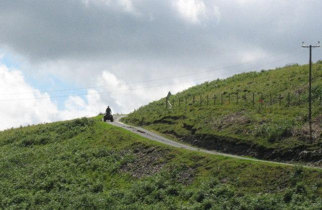 The quad-bike - a vital piece of machinery on any sheep farm