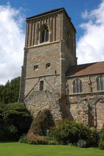 The tower of Little Malvern Priory