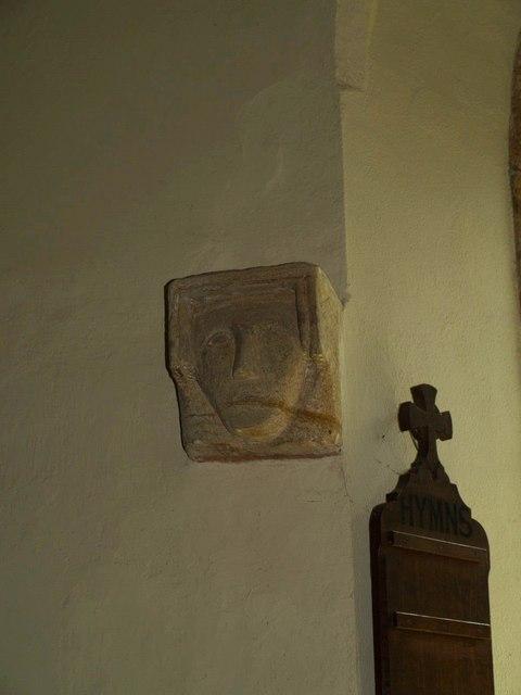Carved head, Seavington St Michael