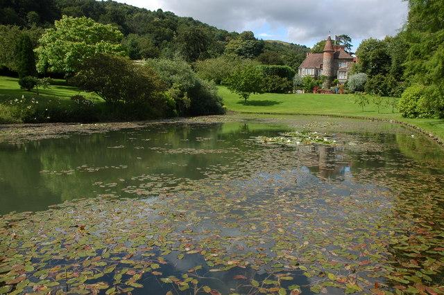 Lake and gardens, Little Malvern Court
