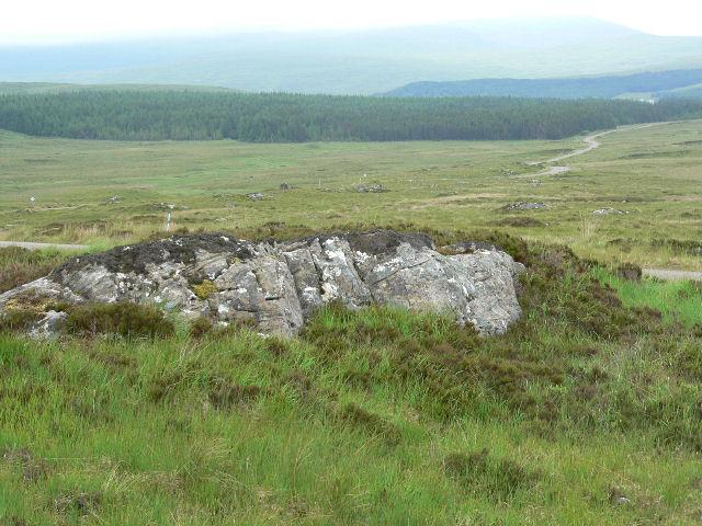 Bare rock on the hillside