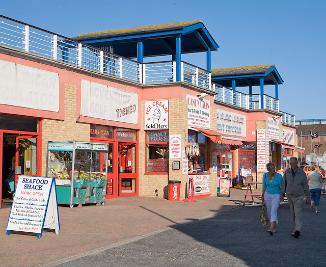 Amusement Park approaching Clarence Pier, Southsea