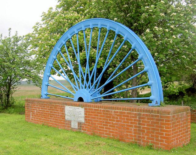 Memorial pit headgear wheel.