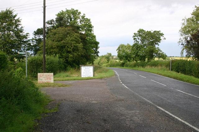 The B660 heading north towards Kimbolton