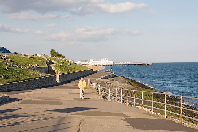 Seafront at West Battery, Southsea Castle