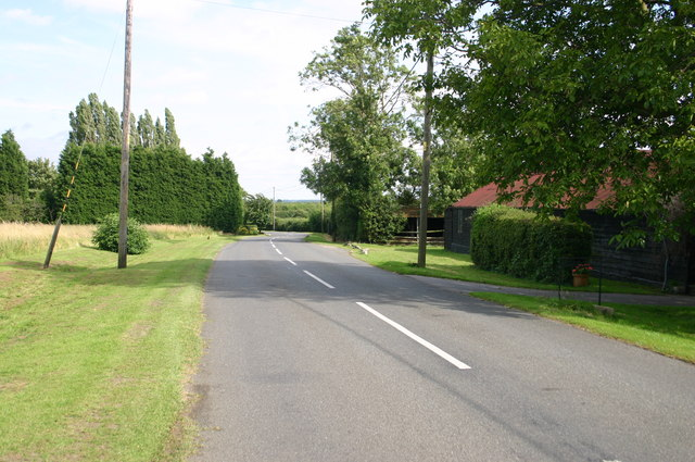 Minor road at New farm