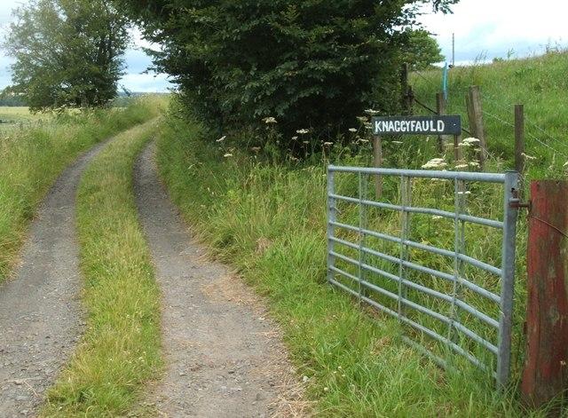 Main gate to Knaggyfauld
