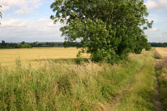 Bridleway to Great Barford church