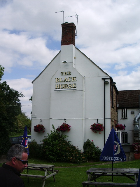 "Gable end of ""The Black Horse"", Gozzard's Ford"