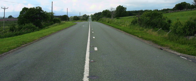 The 'Trawsfynydd Straight' on the A470 looking north