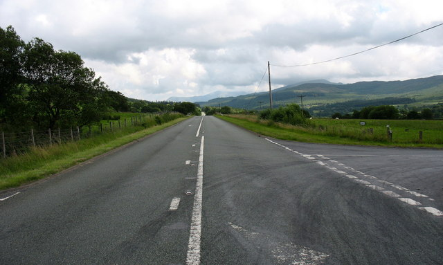 The 'Trawsfynydd Straight' on the A470 looking south
