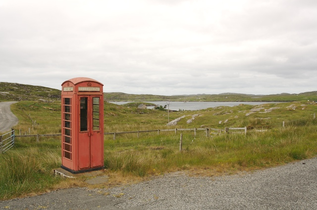 Phonebox on the road to Great Bernera
