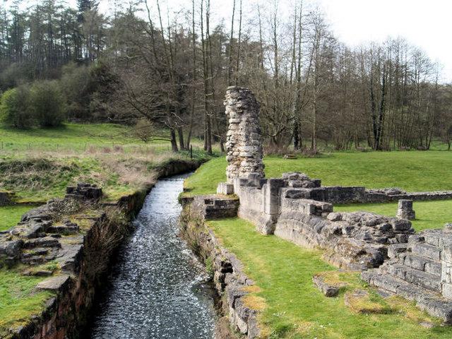 Mill race Roche Abbey.