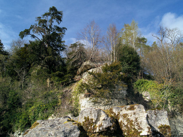 Rock outcrop overlooking Roche Abbey.