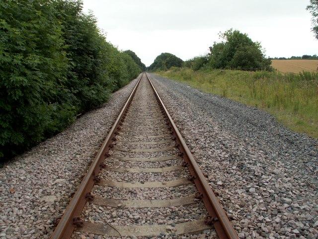 Railway Line to Royston from Walton