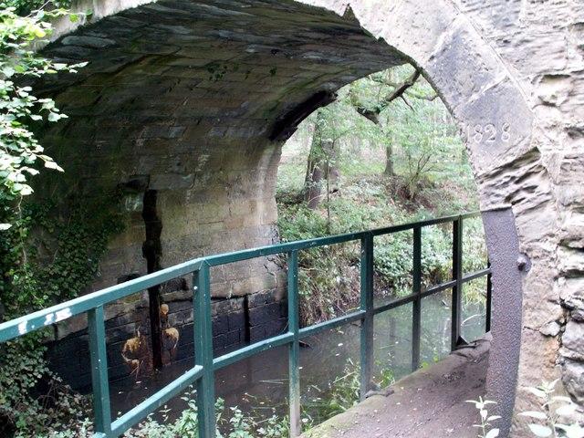 Towpath under Bridge on Barnsley Canal