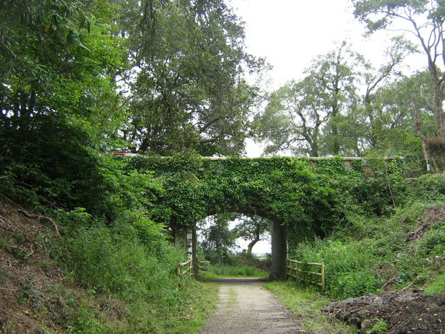 Road bridge over cycleway nr. Heligan