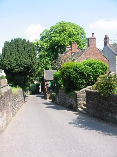 Looking down the road leading to the Church
