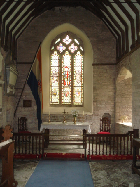 Interior of St Mary's Church at Kyre