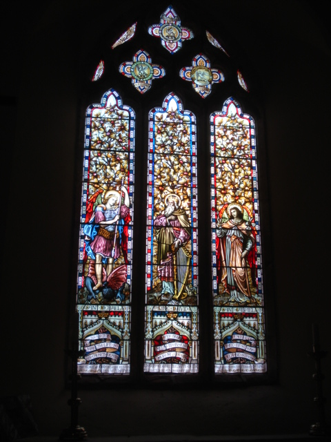 Detail of window at St Mary's Church at Kyre