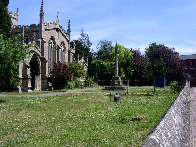 Oakham Church Grounds.