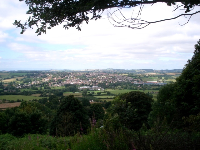 Bromyard from Bromyard Downs