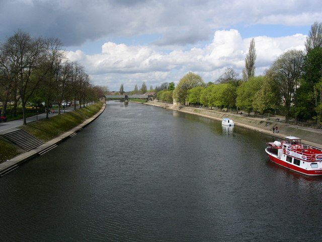 Looking Along The River Ouse, York.